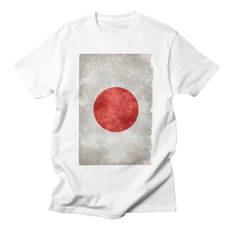 Japan Flag Men's T-shirt by ALMA VISUAL's Artist Shop