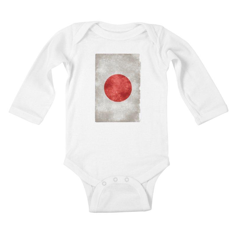 Japan Flag Kids Baby Longsleeve Bodysuit by ALMA VISUAL's Artist Shop