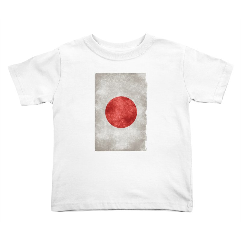 Japan Flag Kids Toddler T-Shirt by ALMA VISUAL's Artist Shop