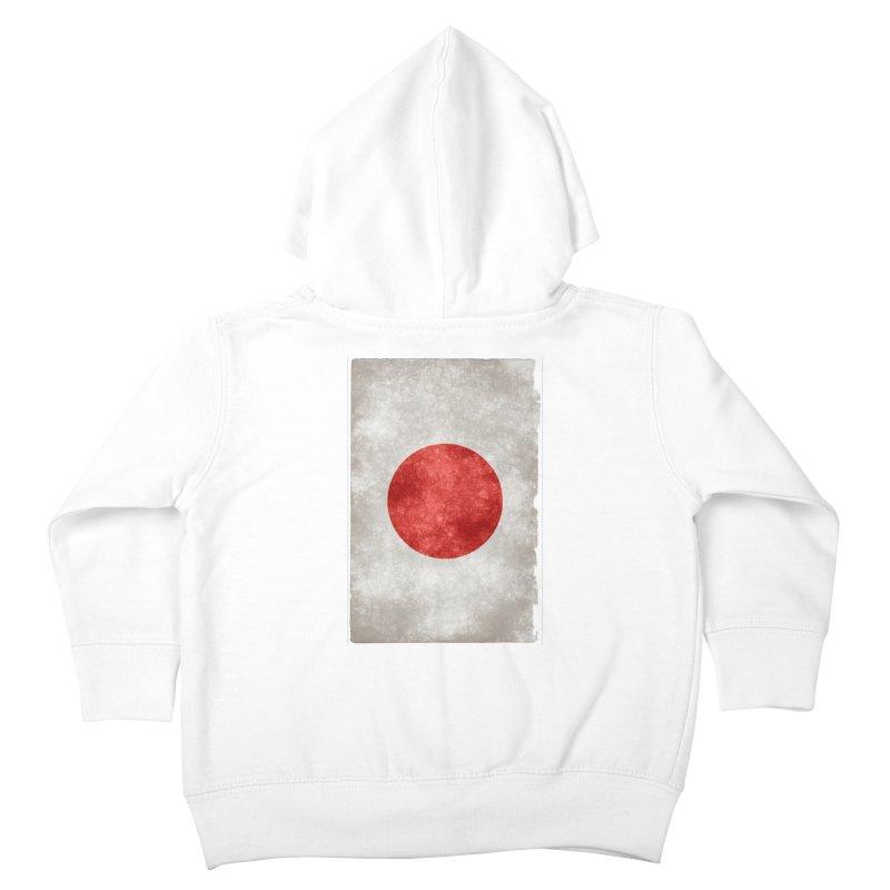 Japan Flag Kids Toddler Zip-Up Hoody by ALMA VISUAL's Artist Shop