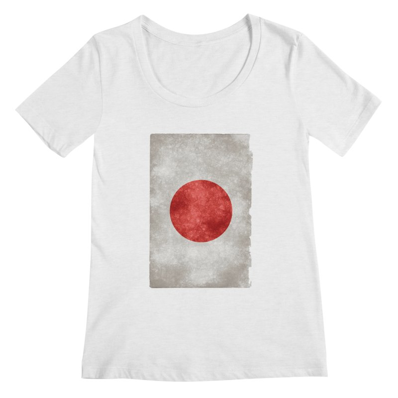 Japan Flag Women's Scoopneck by ALMA VISUAL's Artist Shop