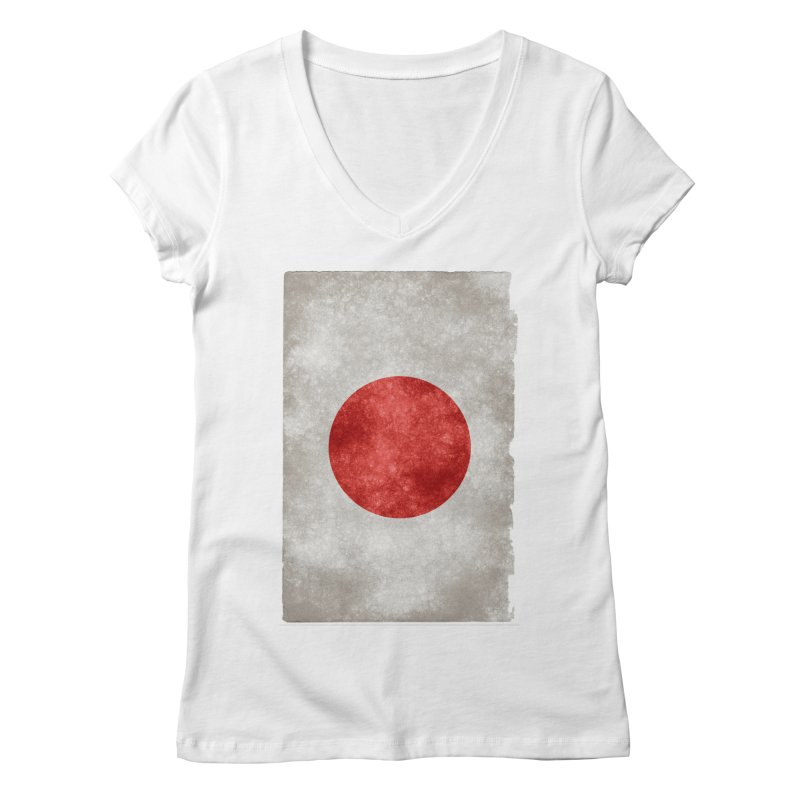Japan Flag Women's V-Neck by ALMA VISUAL's Artist Shop
