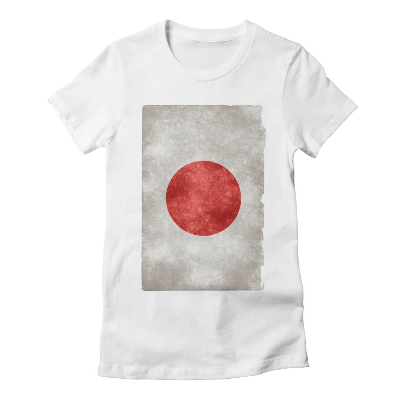 Japan Flag Women's Fitted T-Shirt by ALMA VISUAL's Artist Shop