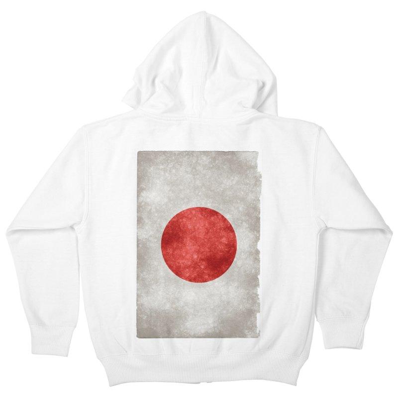 Japan Flag Kids Zip-Up Hoody by ALMA VISUAL's Artist Shop