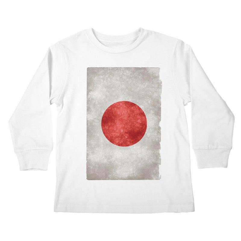 Japan Flag Kids Longsleeve T-Shirt by ALMA VISUAL's Artist Shop