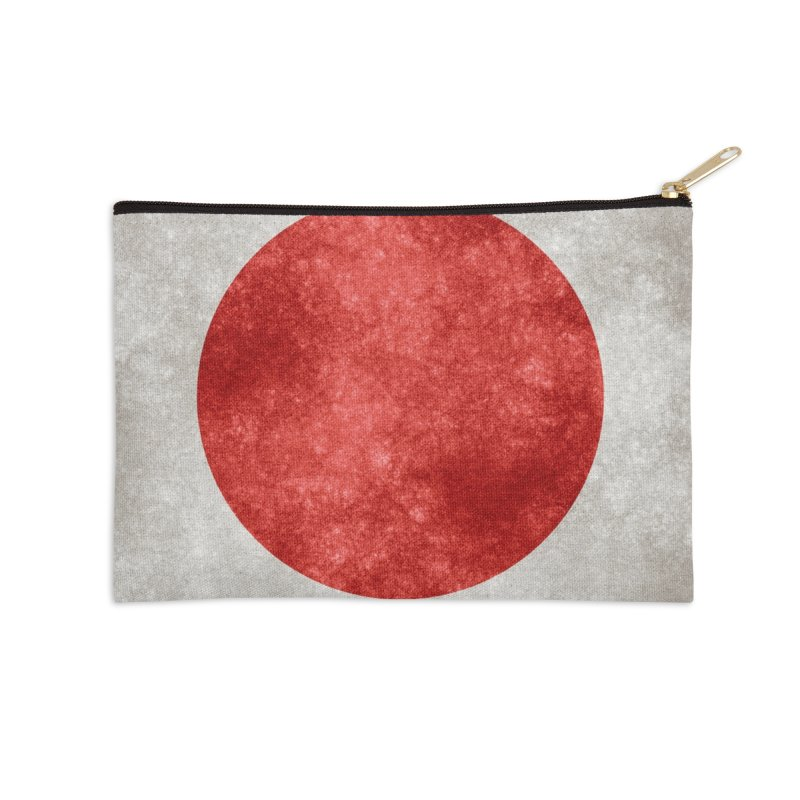 Japan Flag Accessories Zip Pouch by ALMA VISUAL's Artist Shop