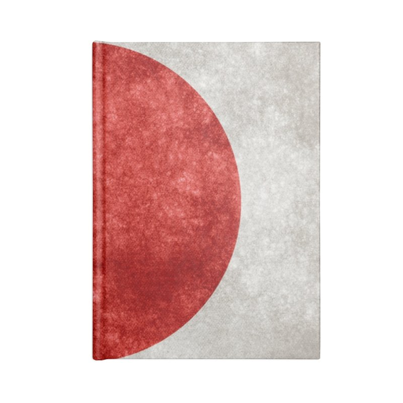 Japan Flag Accessories Notebook by ALMA VISUAL's Artist Shop