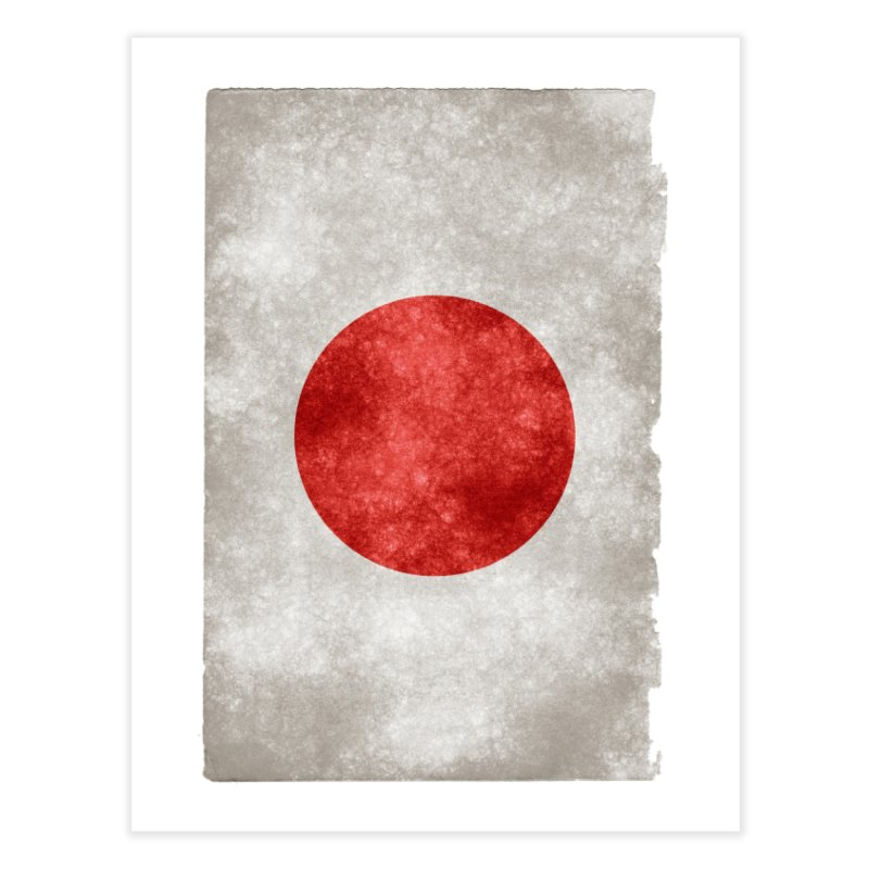 Japan Flag Home Fine Art Print by ALMA VISUAL's Artist Shop