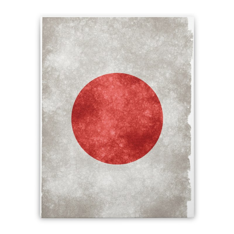 Japan Flag Home Stretched Canvas by ALMA VISUAL's Artist Shop