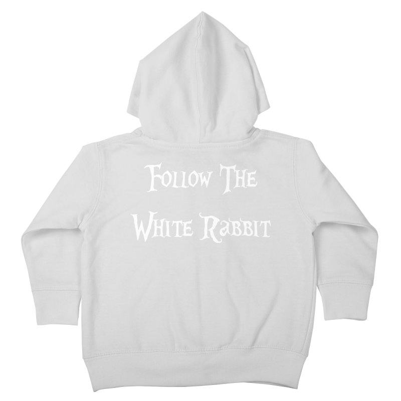 Follow The White Rabbit BLACK BACKGROUND Kids Toddler Zip-Up Hoody by ALMA VISUAL's Artist Shop