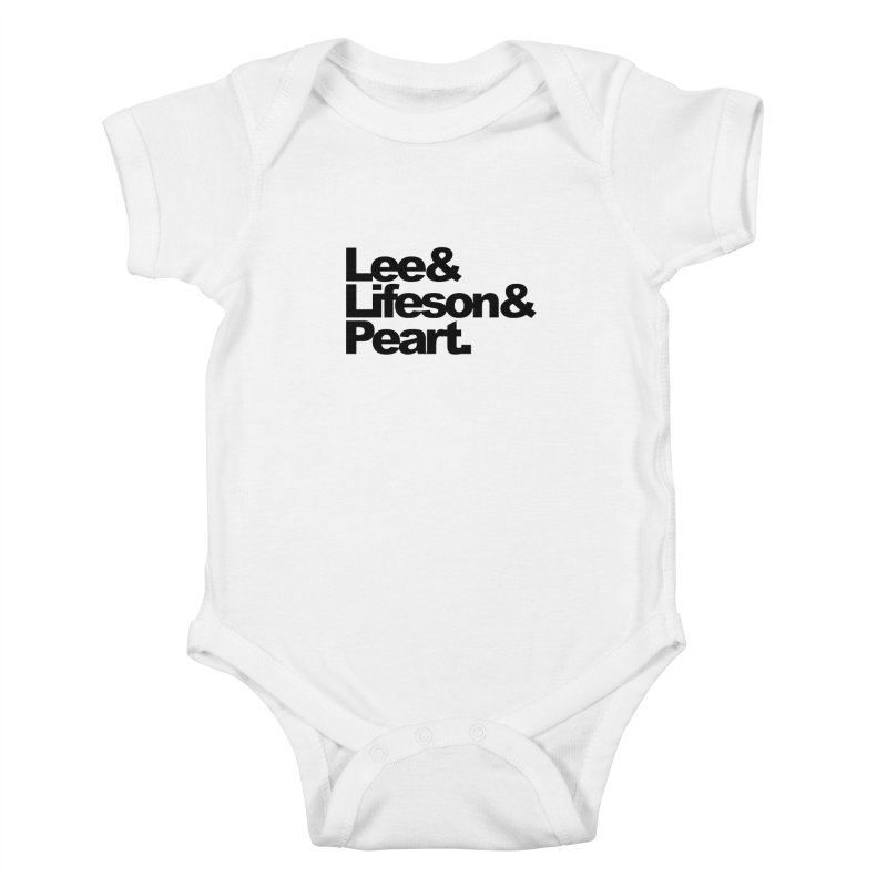 Lee and Lifeson and Peart Kids Baby Bodysuit by ALMA VISUAL's Artist Shop