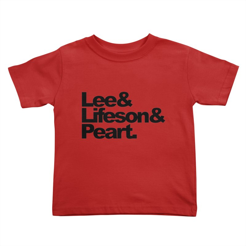 Lee and Lifeson and Peart Kids Toddler T-Shirt by ALMA VISUAL's Artist Shop