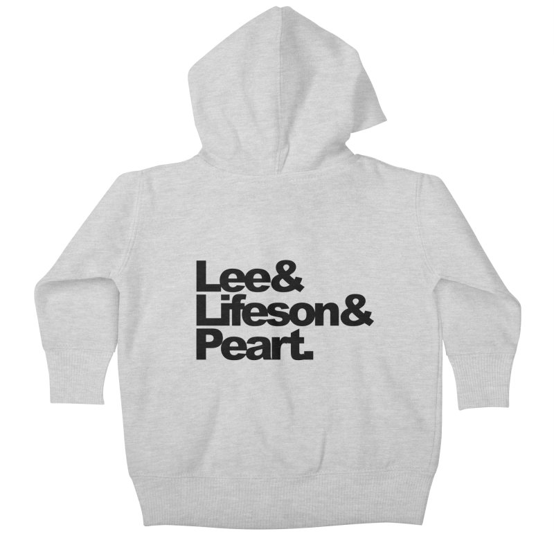Lee and Lifeson and Peart Kids Baby Zip-Up Hoody by ALMA VISUAL's Artist Shop