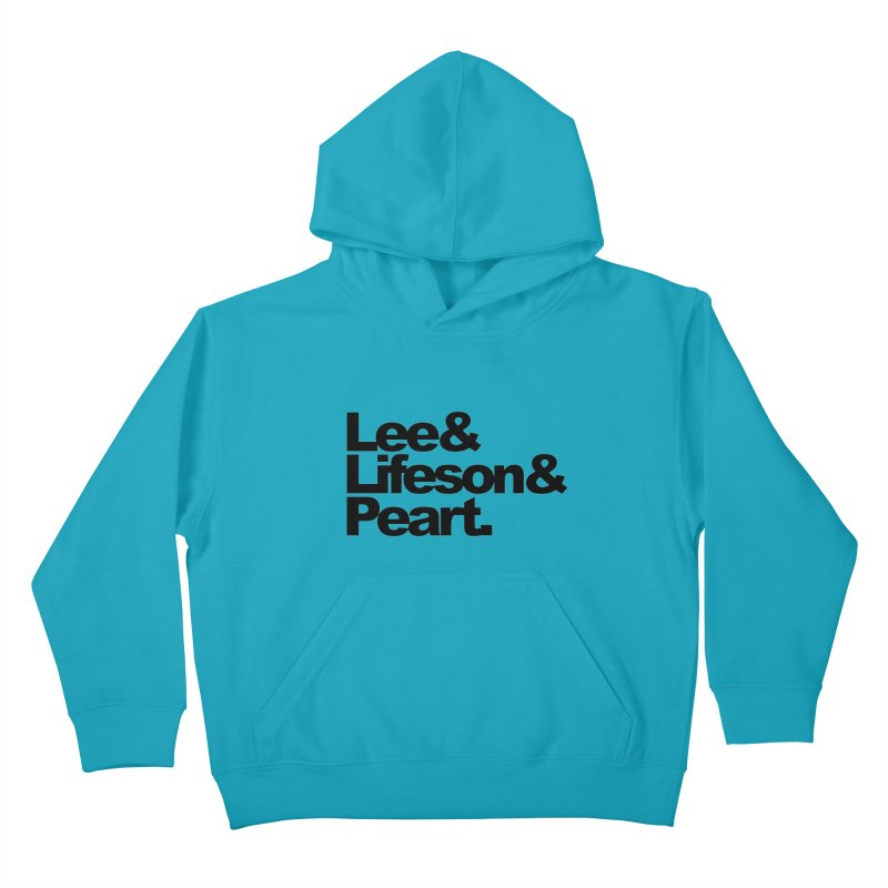 Lee and Lifeson and Peart Kids Pullover Hoody by ALMA VISUAL's Artist Shop