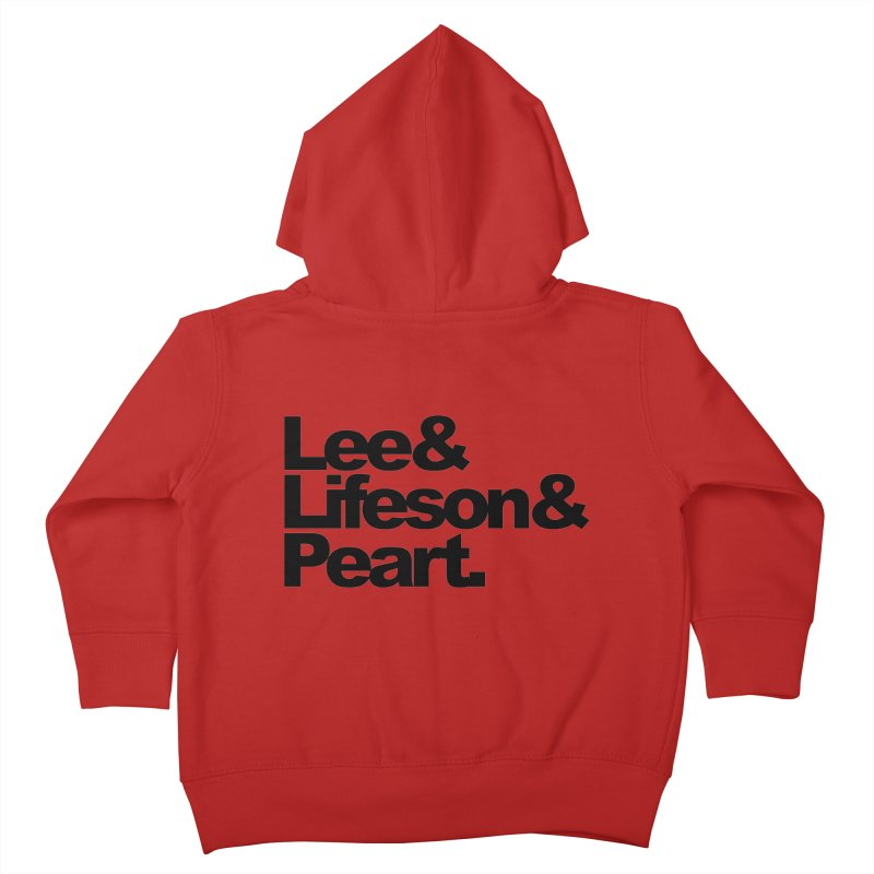 Lee and Lifeson and Peart Kids Toddler Zip-Up Hoody by ALMA VISUAL's Artist Shop