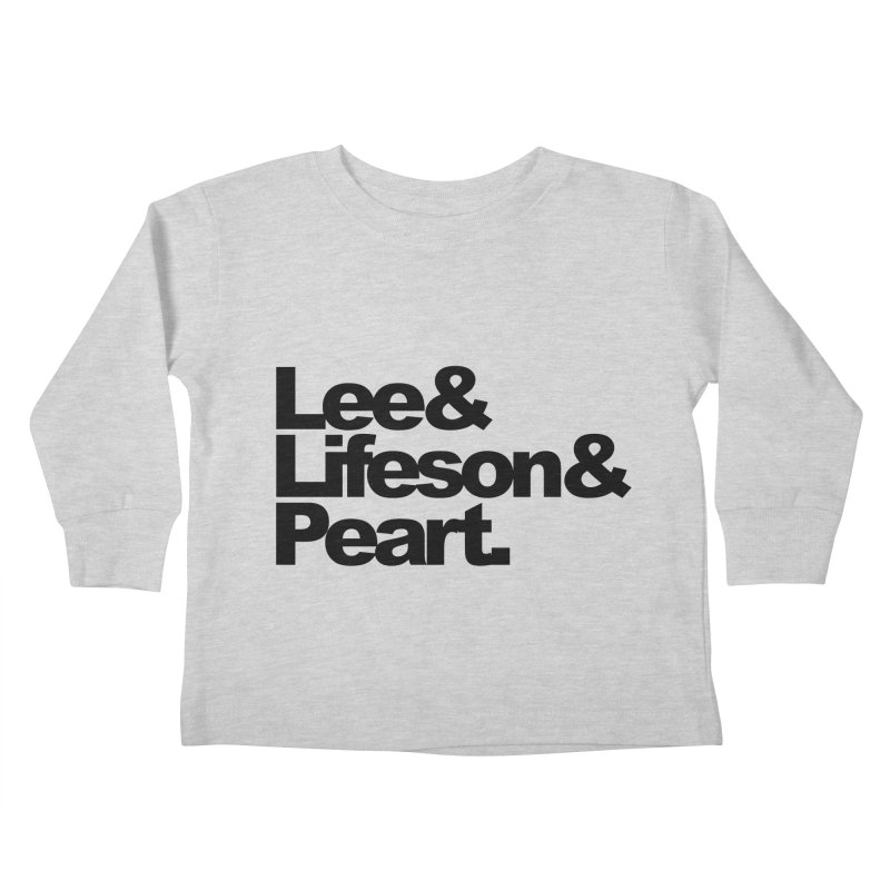 Lee and Lifeson and Peart Kids Toddler Longsleeve T-Shirt by ALMA VISUAL's Artist Shop