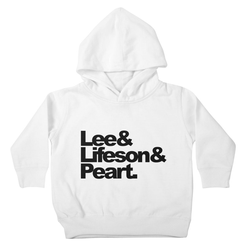 Lee and Lifeson and Peart Kids Toddler Pullover Hoody by ALMA VISUAL's Artist Shop