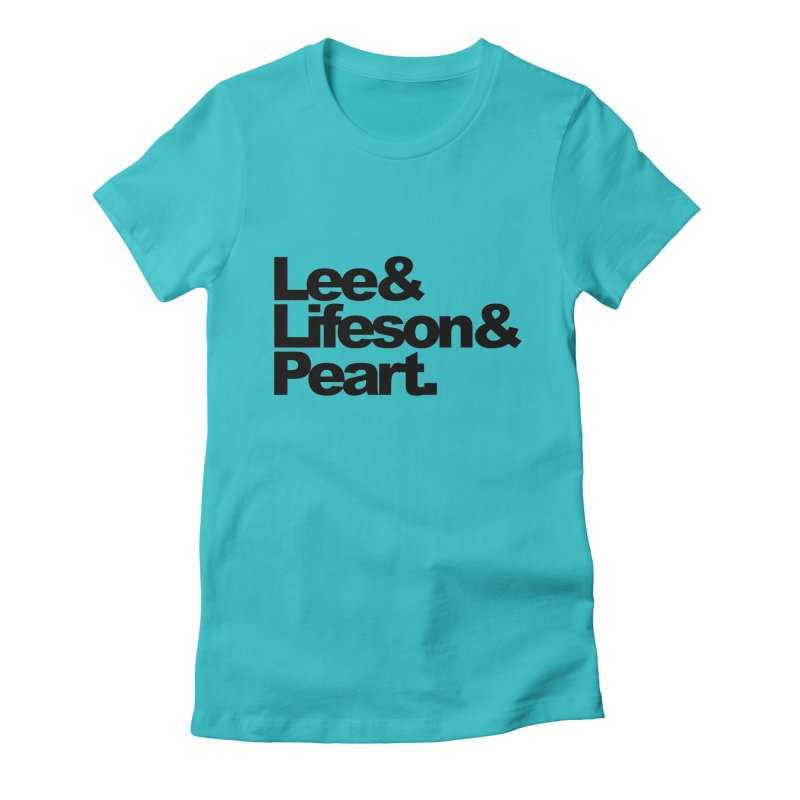 Lee and Lifeson and Peart Women's Fitted T-Shirt by ALMA VISUAL's Artist Shop