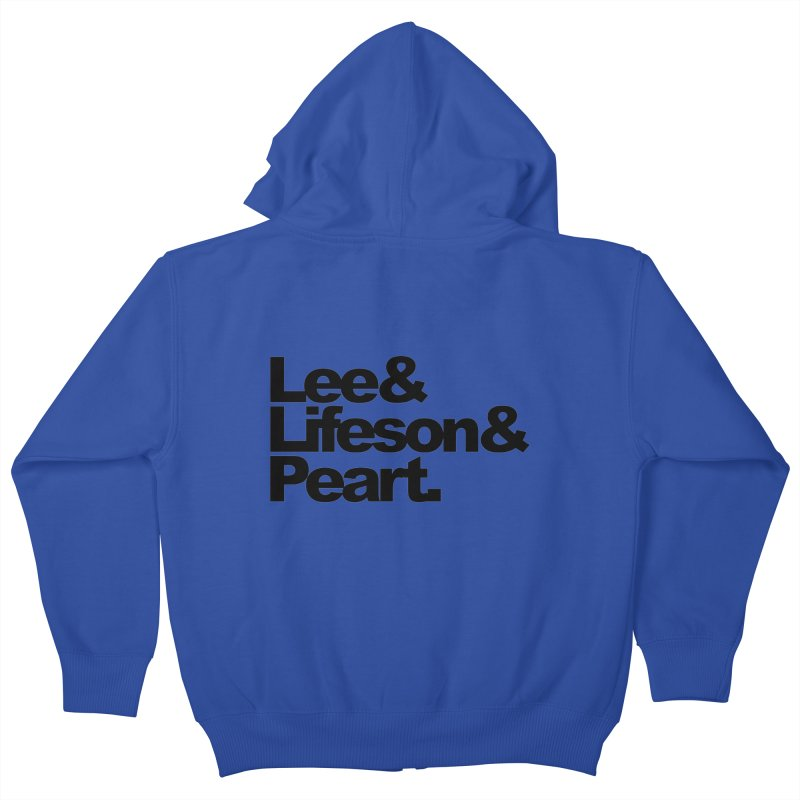 Lee and Lifeson and Peart Kids Zip-Up Hoody by ALMA VISUAL's Artist Shop