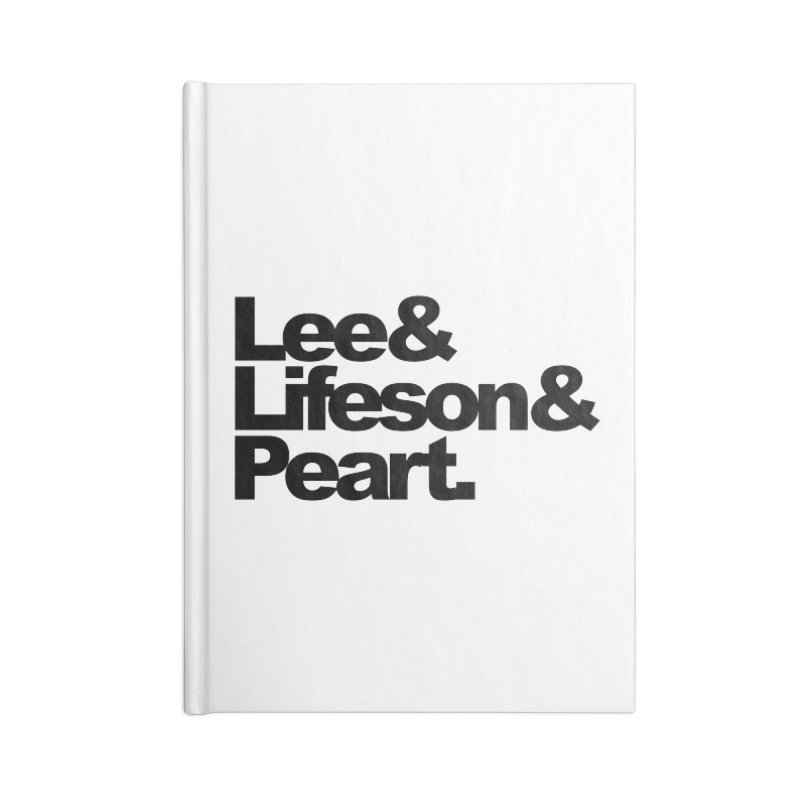 Lee and Lifeson and Peart Accessories Notebook by ALMA VISUAL's Artist Shop