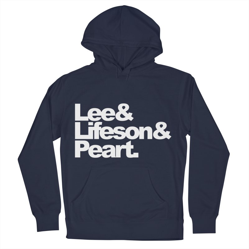 Lee and Lifeson and Peart - black background Men's Pullover Hoody by ALMA VISUAL's Artist Shop