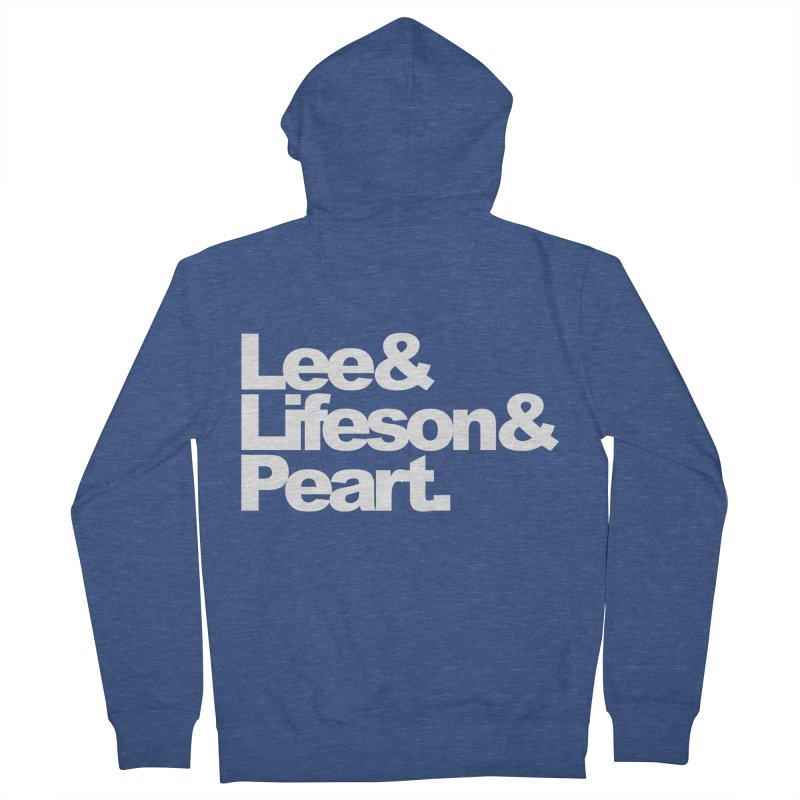 Lee and Lifeson and Peart - black background Men's Zip-Up Hoody by ALMA VISUAL's Artist Shop