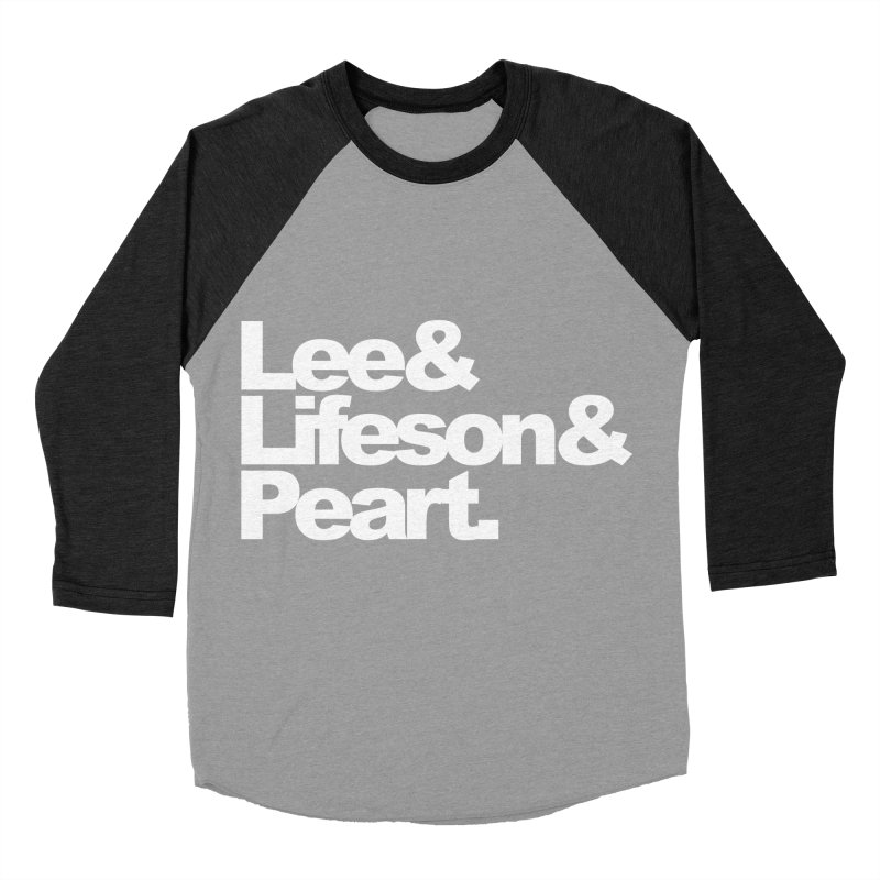 Lee and Lifeson and Peart - black background Women's Baseball Triblend T-Shirt by ALMA VISUAL's Artist Shop