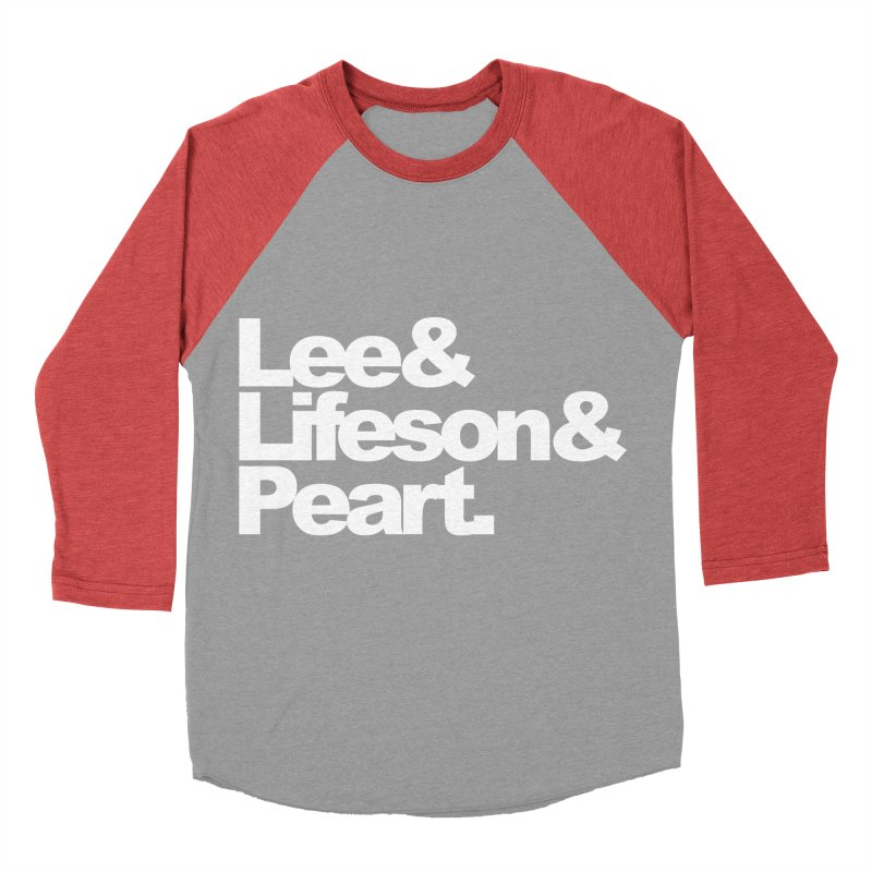 Lee and Lifeson and Peart - black background Men's Baseball Triblend T-Shirt by ALMA VISUAL's Artist Shop