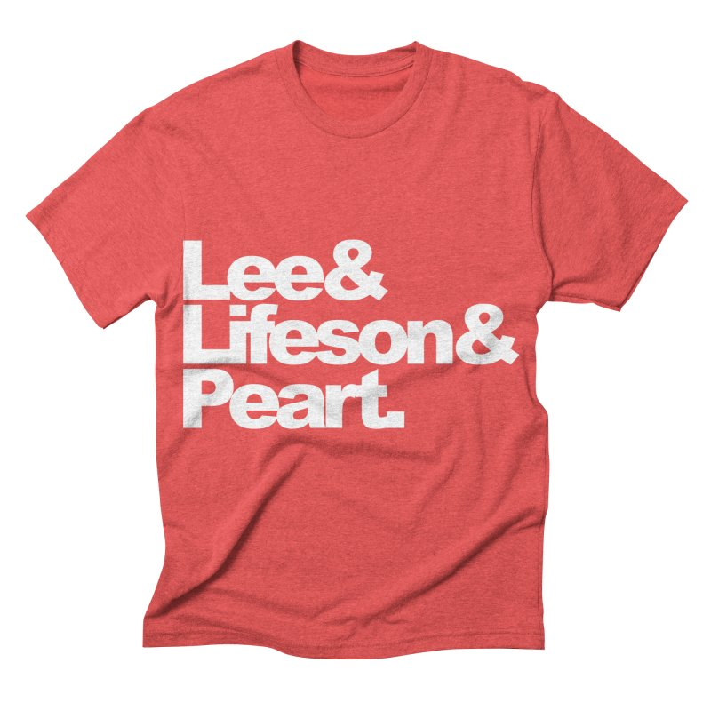 Lee and Lifeson and Peart - black background Men's Triblend T-shirt by ALMA VISUAL's Artist Shop