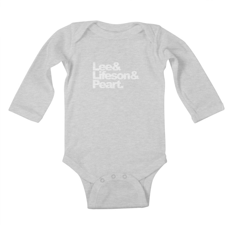 Lee and Lifeson and Peart - black background Kids Baby Longsleeve Bodysuit by ALMA VISUAL's Artist Shop