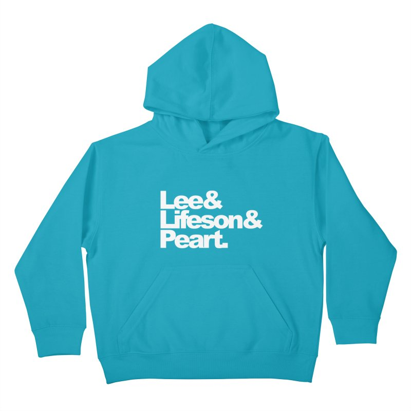 Lee and Lifeson and Peart - black background Kids Pullover Hoody by ALMA VISUAL's Artist Shop