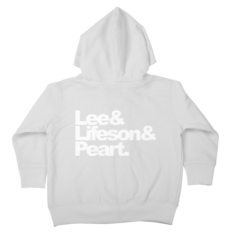 Lee and Lifeson and Peart - black background Kids Toddler Zip-Up Hoody by ALMA VISUAL's Artist Shop