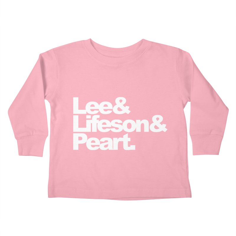 Lee and Lifeson and Peart - black background Kids Toddler Longsleeve T-Shirt by ALMA VISUAL's Artist Shop