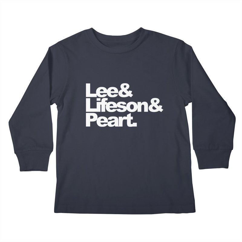 Lee and Lifeson and Peart - black background Kids Longsleeve T-Shirt by ALMA VISUAL's Artist Shop