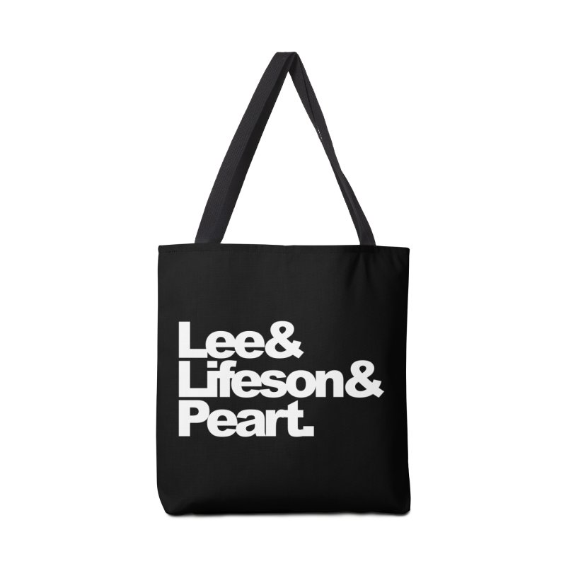 Lee and Lifeson and Peart - black background Accessories Bag by ALMA VISUAL's Artist Shop