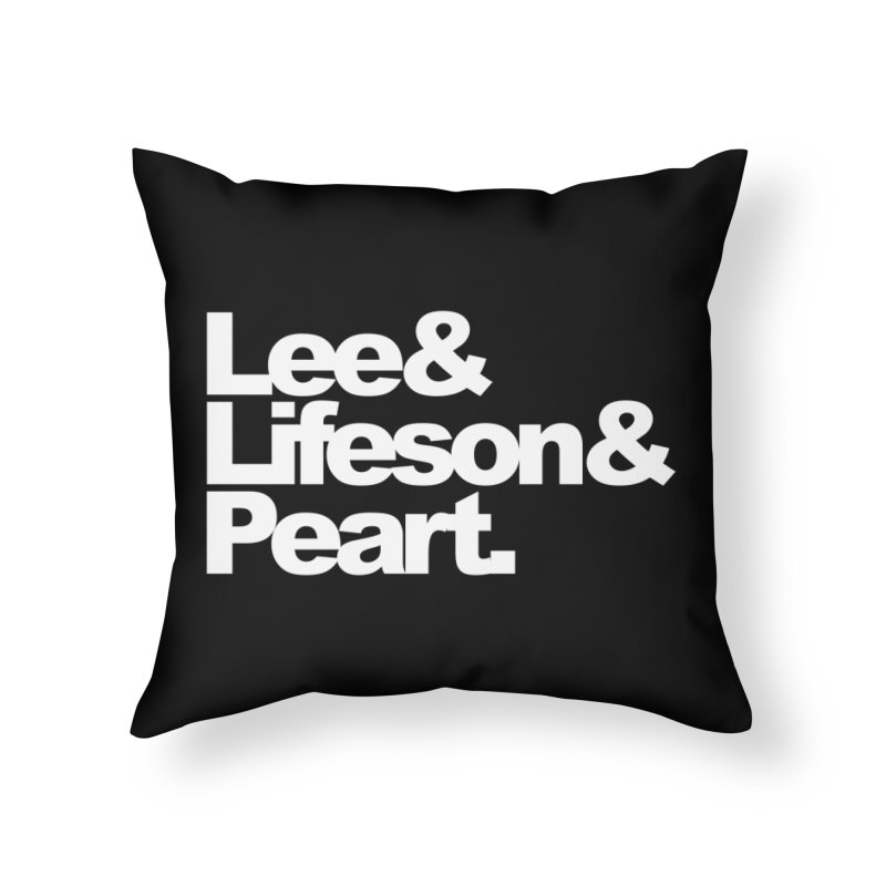 Lee and Lifeson and Peart - black background Home Throw Pillow by ALMA VISUAL's Artist Shop