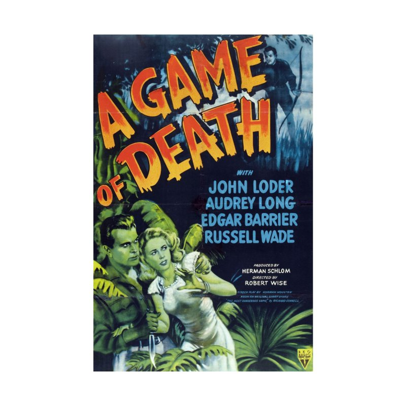 A Game of Death vintage horror movie poster by ALMA VISUAL's Artist Shop