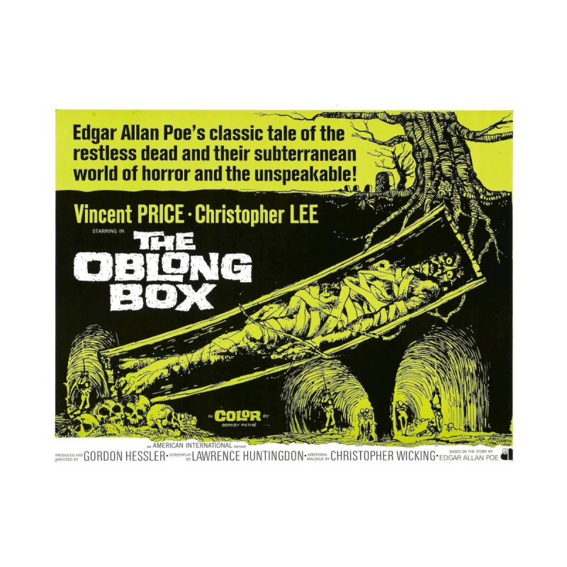 The Oblong Box  vintage horror movie poster by ALMA VISUAL's Artist Shop