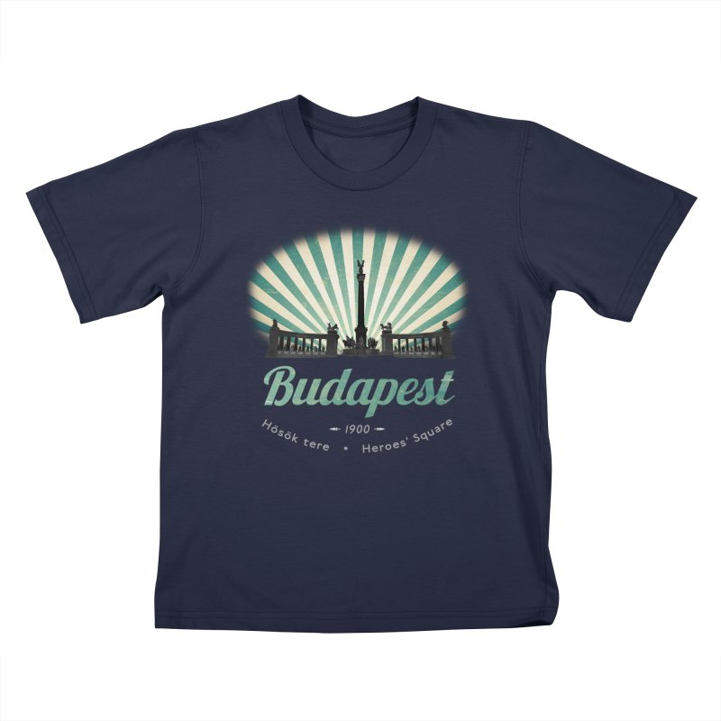 Budapest, Heroes Square Kids Toddler T-Shirt by ALMA VISUAL's Artist Shop