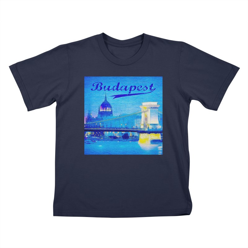 Budapest vintage 2 Kids Toddler T-Shirt by ALMA VISUAL's Artist Shop