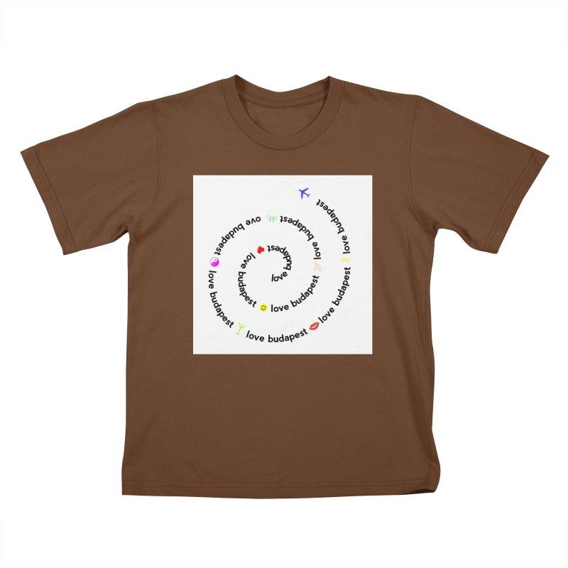 Love Budapest Kids T-shirt by ALMA VISUAL's Artist Shop