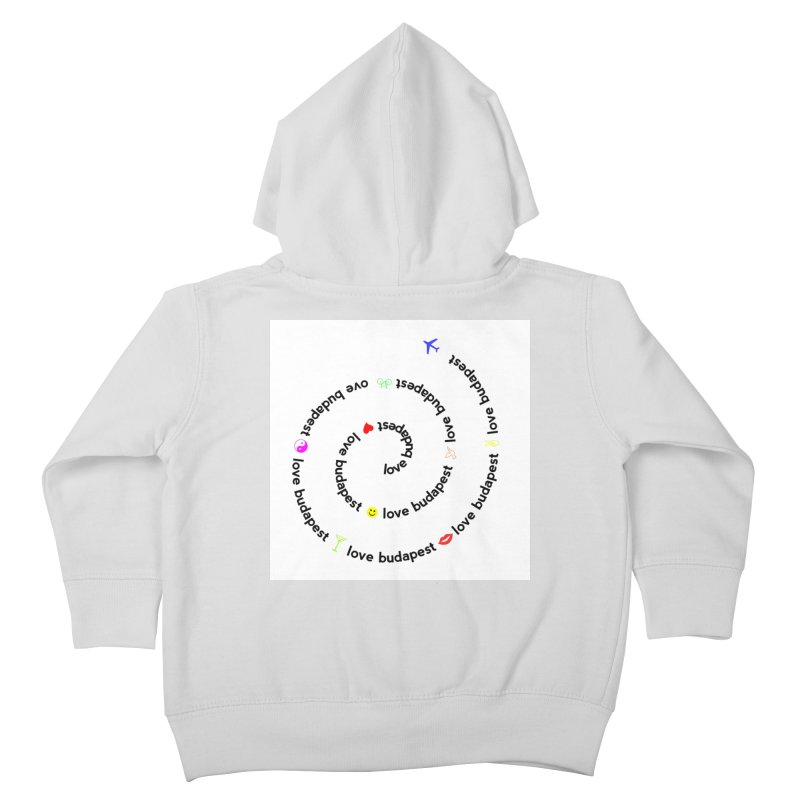 Love Budapest Kids Toddler Zip-Up Hoody by ALMA VISUAL's Artist Shop