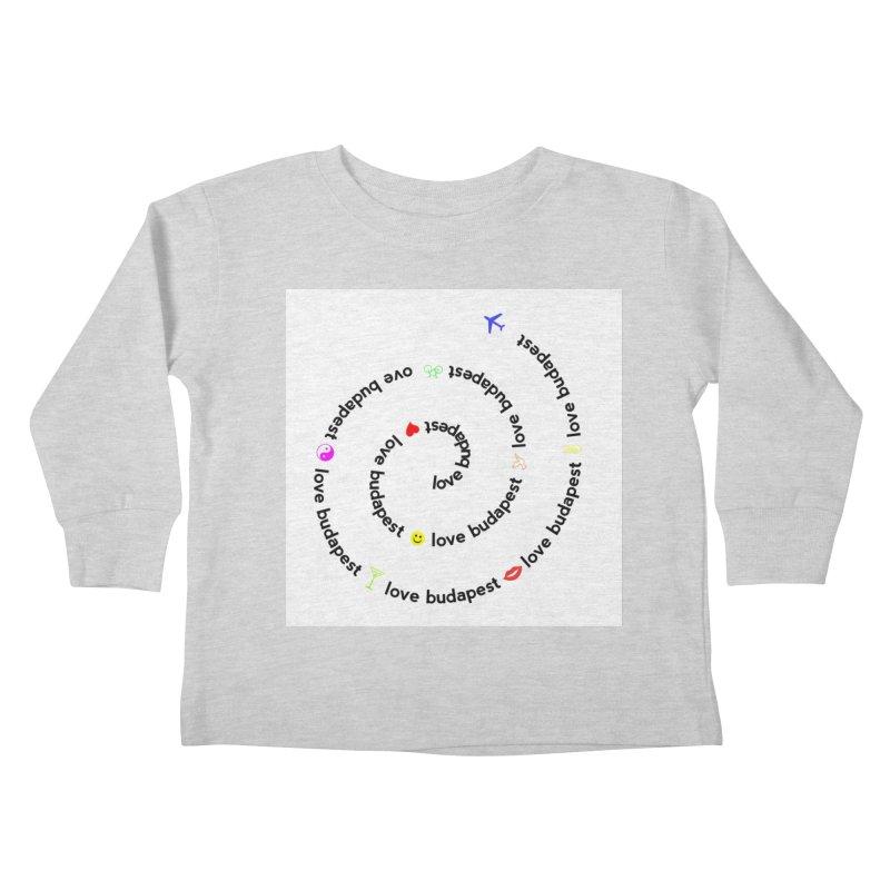 Love Budapest Kids Toddler Longsleeve T-Shirt by ALMA VISUAL's Artist Shop