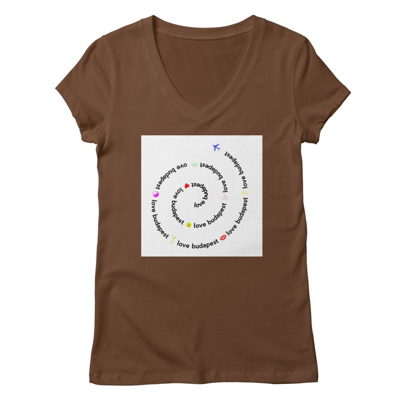 Love Budapest Women's V-Neck by ALMA VISUAL's Artist Shop