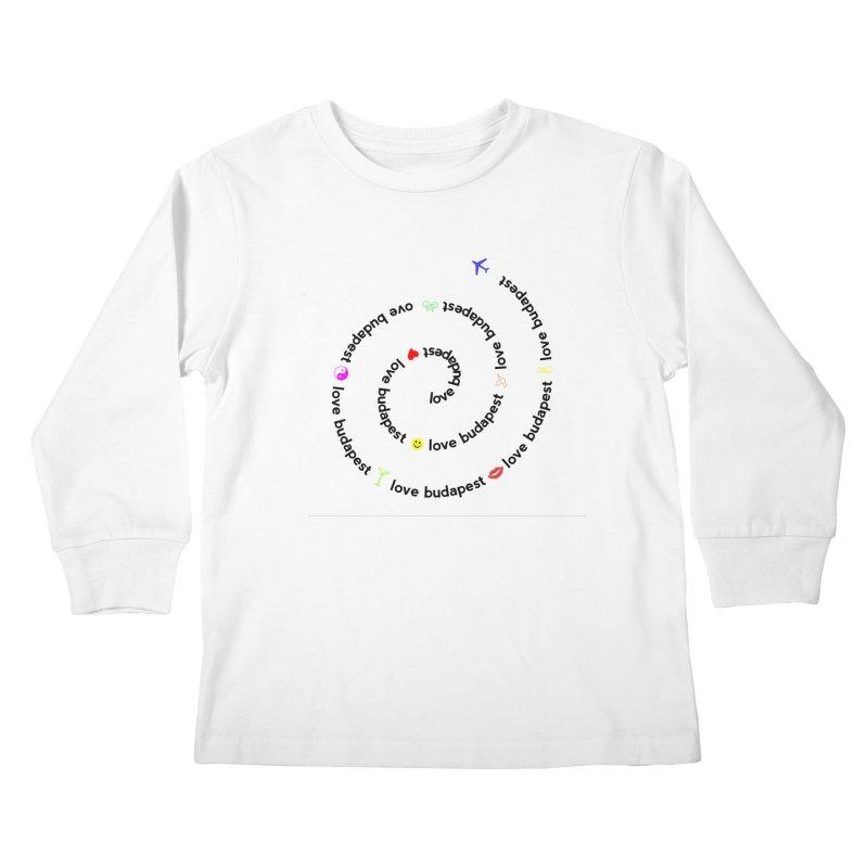Love Budapest Kids Longsleeve T-Shirt by ALMA VISUAL's Artist Shop
