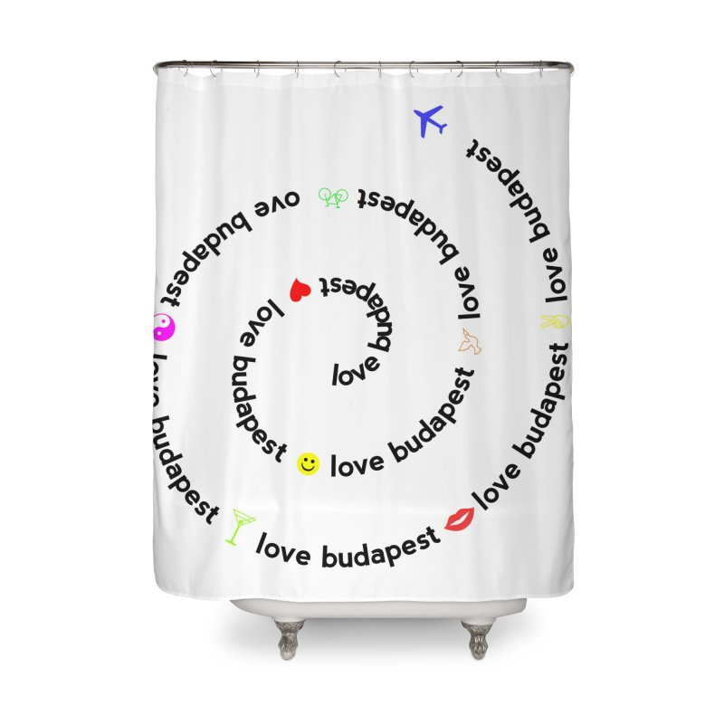 Love Budapest Home Shower Curtain by ALMA VISUAL's Artist Shop
