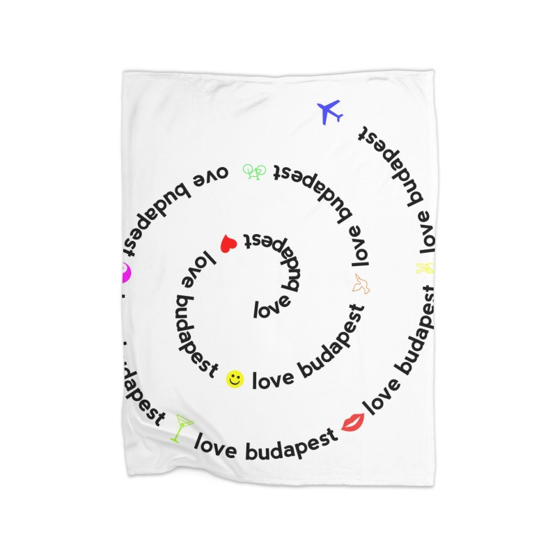 Love Budapest Home Blanket by ALMA VISUAL's Artist Shop