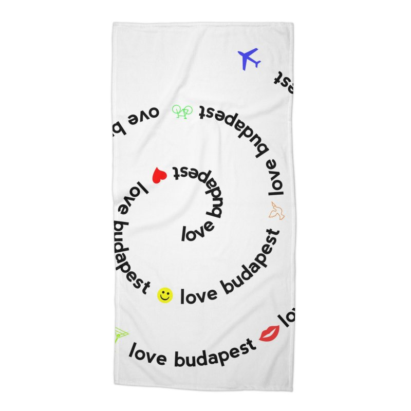 Love Budapest Accessories Beach Towel by ALMA VISUAL's Artist Shop