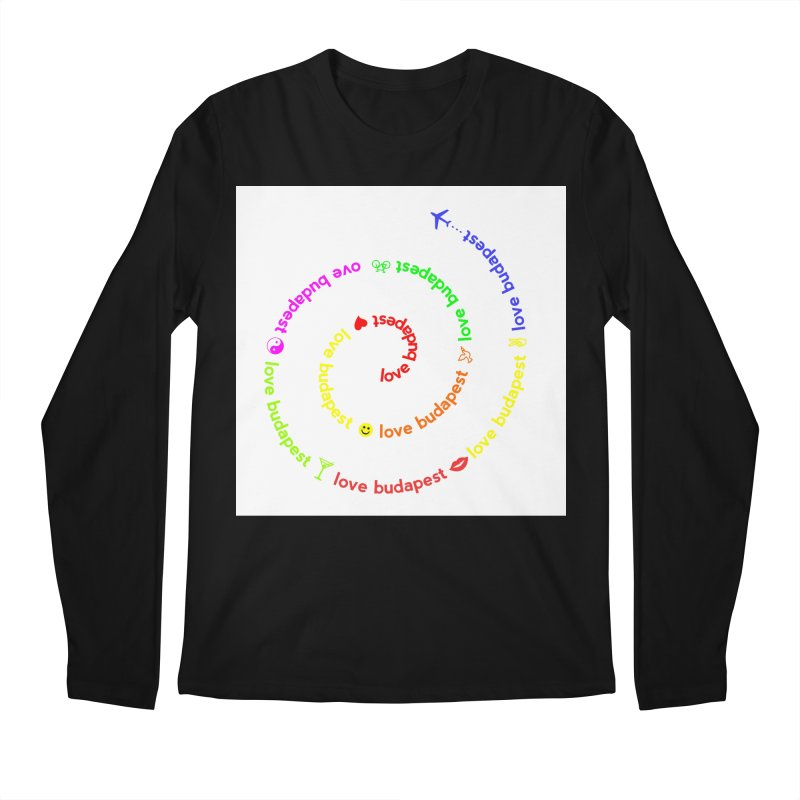Love Budapest, colors Men's Longsleeve T-Shirt by ALMA VISUAL's Artist Shop