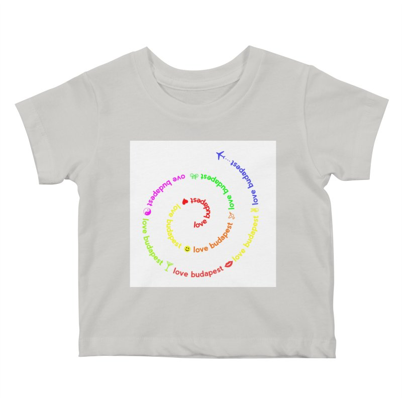 Love Budapest, colors Kids Baby T-Shirt by ALMA VISUAL's Artist Shop